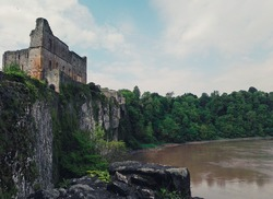 View of a welsh castle and river