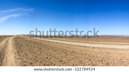 View of a wild landscape and desert in the south of Morocco #322784924