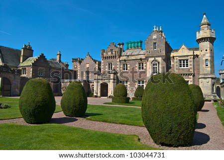 view of Abbotsford House in Melrose, Scotland