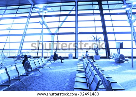 view of airport terminal seat
