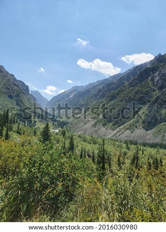 view of Ala Archa National Park  Foto stock ©