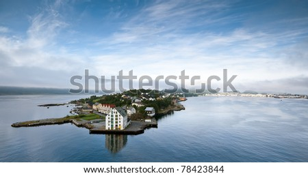 View of Alesund town early morning, Norway - Scandinavia