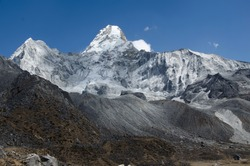View of Ama Dablam from Ama Dablam Basecamp in Nepal