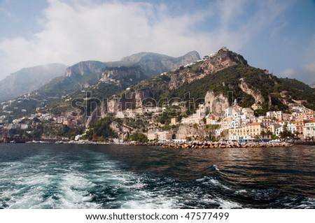 View of Amalfi, Costiera Amalfitana, Italy