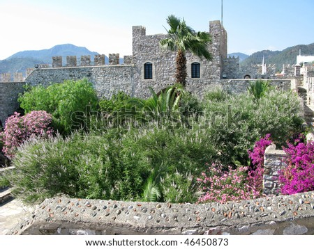 view of an ancient castle in marmaris turkey