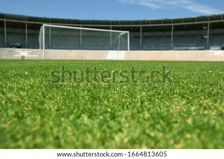 View of an empty soccer field