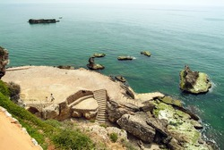 View of ancient Phoenician port of Byblos in north Lebanon. Here cedarwood and metal artefacts were  traded across the Mediterranean in the late Bronze and early Iron Age from 1900 BCE until 1000 BCE