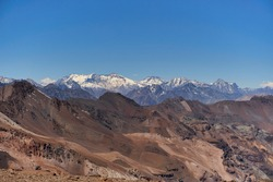 View of Andes mountains southamerica