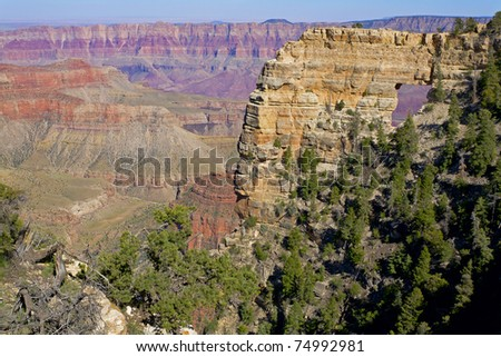 View of Angel's Window at the North Rim of the Grand Canyon