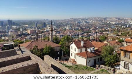 View of Ankara from Ankara Castle. Ankara Turkey Stok fotoğraf ©