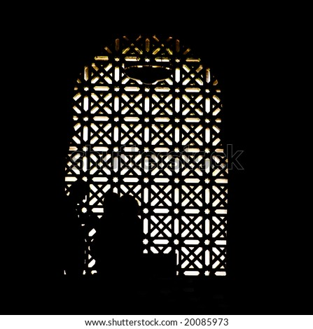 View of arabic architecture in the Mezquita cathedral, Cordoba, Spain, Andalusia