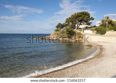 View of Bandol bay, France.