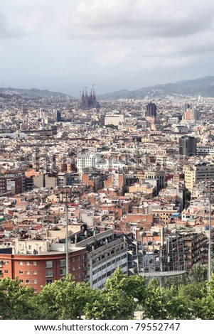 View of Barcelona city, Catalonia, Spain