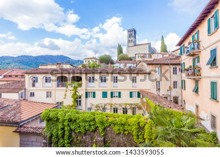 View of Barga, Lucca, Tuscany. Because of its historical, artistic, civic and demographic importance, Barga is one of the 'most beautiful villages in Italy', a prestigious tourist quality brand.