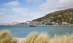 View of Barmouth harbour and town