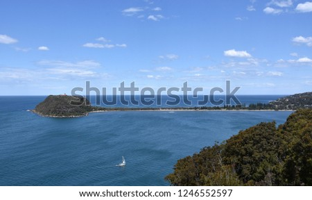 View of Barrenjoey Head and Palm beach from West Head (Ku-ring-gai Chase National Park, NSW, Australia)