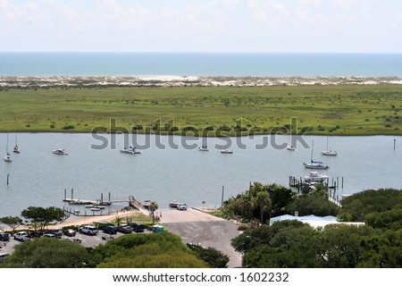 View of Bay from St. Augustine Light House - stock photo