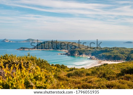 View of beach from Tidal Overlook at Wilsons Promontory