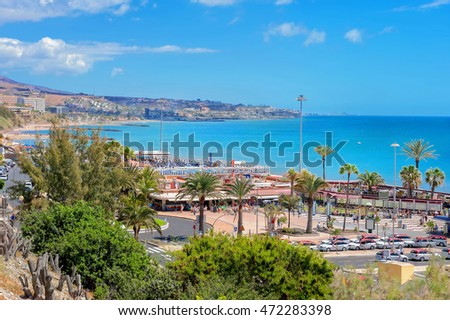Shutterstock View of beach in Playa del Ingles. Maspalomas. Gran Canaria