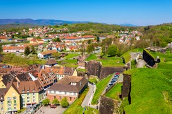 View of Belfort from the fortress - France