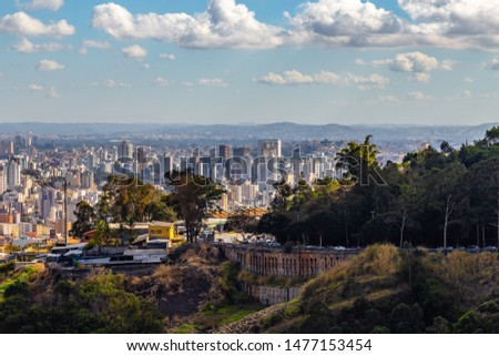 View of Belo Horizonte City Belo Horizonte at morning. Minas Gerais/Brazil.