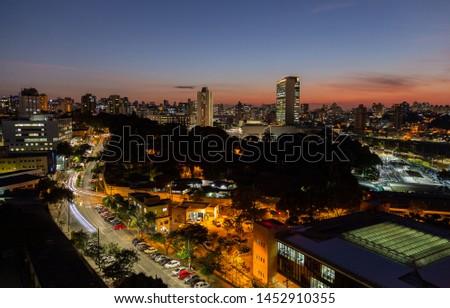 View of Belo Horizonte City. Belo Horizonte, Minas Gerais, Brazil.