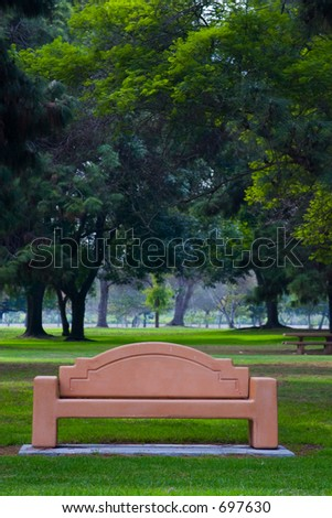 view of bench at the park