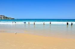 View of Bondi Beach in summer