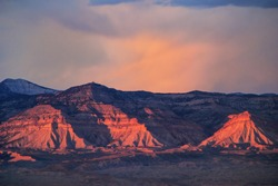 View of Book Cliffs from Colorado National Monument near Grand Junction, USA