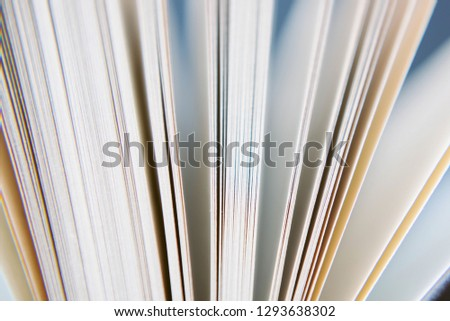 View of book pages. book pages closeup.  #1293638302