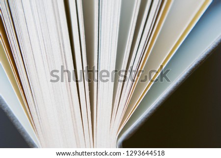 View of book pages. book pages closeup.  #1293644518