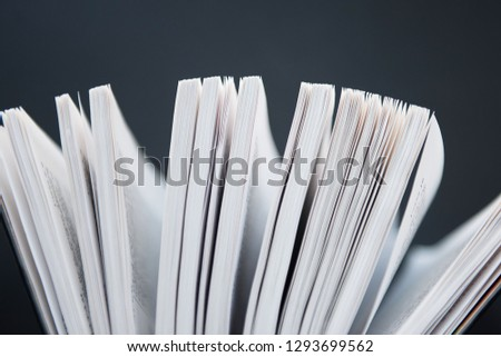 View of book pages. book pages closeup.  #1293699562