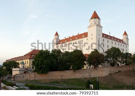 view of Bratislava castle in Slovakia
