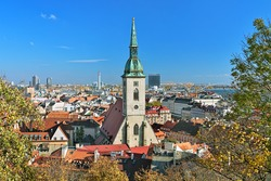 View of Bratislava with St. Martin's Cathedral, Slovakia