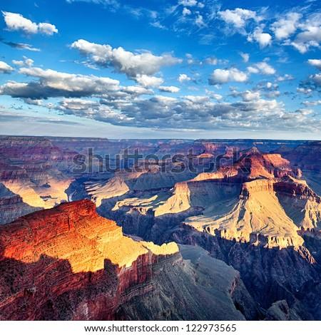 view of breathtaking Grand Canyon at sunrise, USA