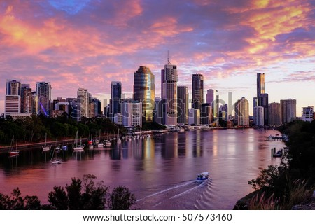 View of Brisbane City from Kangaroo Point cliffs