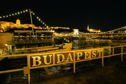 View of Budapest from Danubbio by night