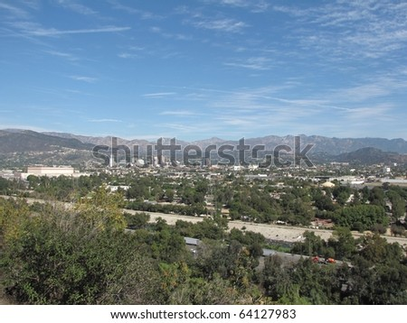 View of Burbank and the San Fernando Valley from Griffith Park