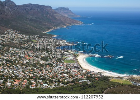 View of Camps Bay, Cape Town, South Africa