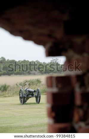 View of Cannon at Fort Pulaski