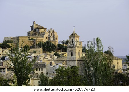 View of Caravaca de la Cruz,the church of Salvador declared a Historic Artistic Monument. Fourteen towers are there to safeguard the Shrine of the Santisima Vera Cruz #520996723