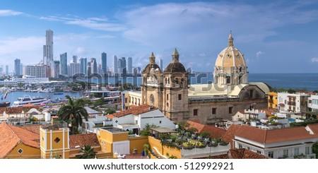 View of Cartagena de Indias, Colombia Stock fotó ©