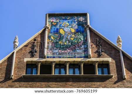Shutterstock View of Casa de les Punxes (Casa Terradas) - building reminiscent of old medieval castle, with elements of different architectural trends, with six pointed towers. Avinguda Diagonal, Barcelona, Spain.