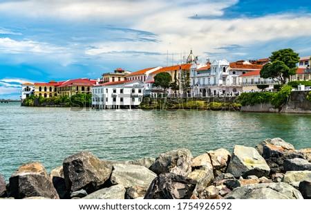 View of Casco Viejo, the historic district of Panama City, a UNESCO world heritage site Stockfoto ©
