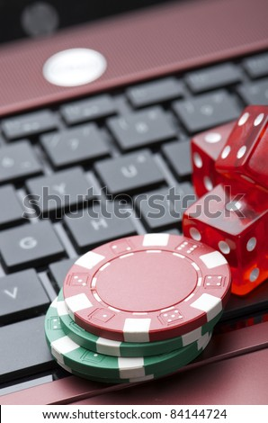 view of casino chips to gamble and play online