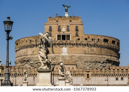 "View of ""Castel Sant'Angelo"" (Castle of the Holy Angel) Rome, Italy #1067378903"