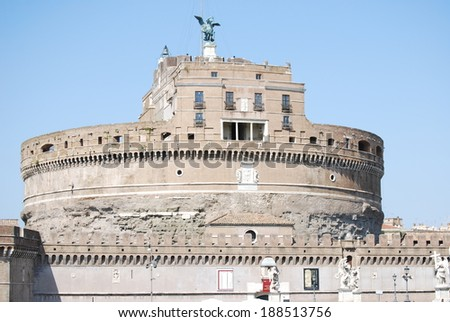 View of Castel Sant'Angelo Rome, Italy #188513756