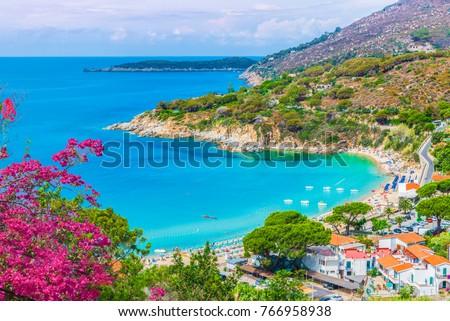 View of  Cavoli beach, Elba island, Tuscany, Italy.  Foto stock ©