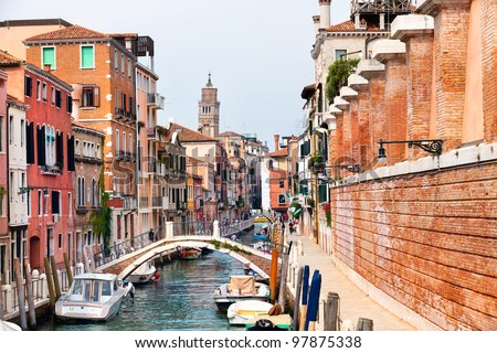 View of center of Venice city,Italy