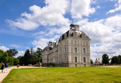 View of Cheverny castle in Loire Valley, France